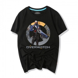 Overwatch Video Game Soldier 76 Tee Shirts