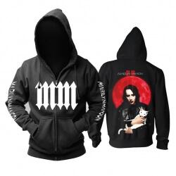 Personalised Marilyn Manson Hoodie Us Metal Rock Band Sweatshirts