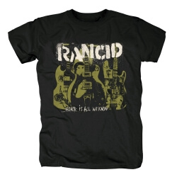 Personalised Rancid Honor Is All We Know T-Shirt Punk Rock Graphic Tees