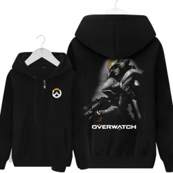 Pharah Overwatch Merch Men Black Zip Up Sweater