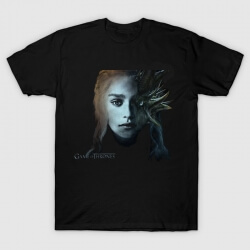 Quality Daenerys Dragon Face T-shirt