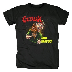 Quality Gutalax Shit Happens Tee Shirts Czech Republic Metal Band T-Shirt