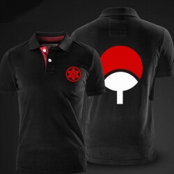 Quality Naruto Black XXL Polo T shirt for men