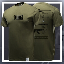 Quality PUBG Armory Army Green Tshirt Playerunknown'S Battlegrounds T-shirt