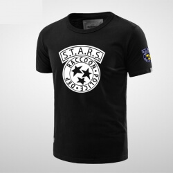Quality Resident Evil Stars Black T-shirt for Men