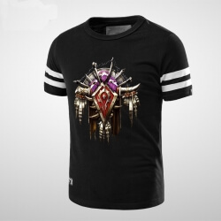Quality worldofwarcraft WOW Horde Black T-shirt