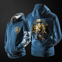 Quality WOW Alliance Lion Sweatshirt worldofwarcraft Hoodie for Mens