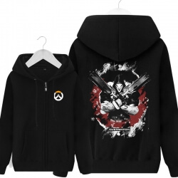 Reaper Overwatch Coat For Mens Black Sweatshirt
