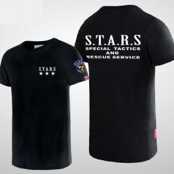 Resident Evil Stars Logo Tshirt Black Men Tee