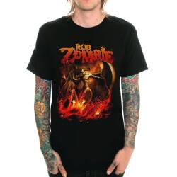 Rob Zombie Rock T-Shirt Black Heavy Metal Shirt
