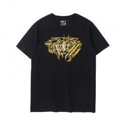 Saint Seiya Death Mask Tee Black Bronzing Tshirt