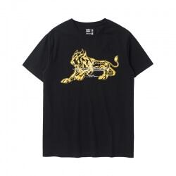 Saint Seiya Leo Tshirts Black Cotton Tee