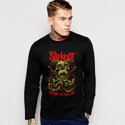 Slipknot Band Long Sleeve Black T-Shirt