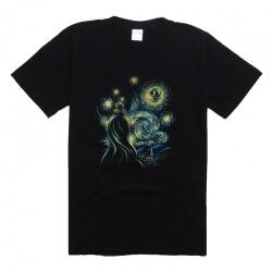 Star Wars Van Gogh Style T Shirt Women Black Tee