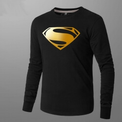 Superman Mens Long Sleeve T Shirt