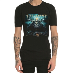 Testament Heavy Metal Rock Print T-Shirt Black