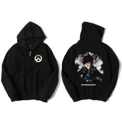 Tracer Hoodie Overwatch Black Zip Mens Clothing