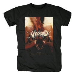 Unique Aborted Band Tee Shirts Belgium Metal Punk Rock T-Shirt