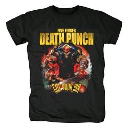 Unique Five Finger Rock T-Shirt Death Punch Got Your Six Dateback Tee Shirts