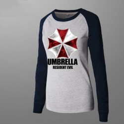 Unique Resident Evil Umbrella Long Sleeve Women Tee Shirt