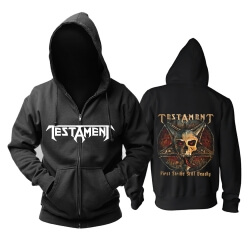 Unique Testament Hoody Metal Rock Band Hoodie