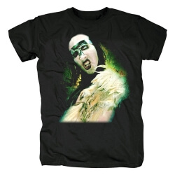 Us Metal Graphic Tees Best Marilyn Manson T-Shirt