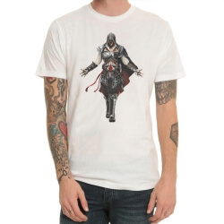 Video Game Assassin'S Creed White Print T-Shirt