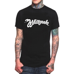 White Snake Rock T-Shirt Black Heavy Metal Tee