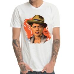WhiteBruno Mars Print T-Shirt