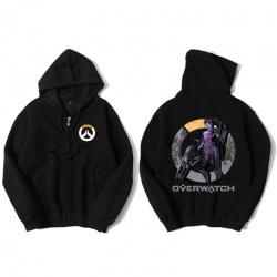 Widowmaker Merch Zip Up Hooded Sweatshirt For Overwatch Fans