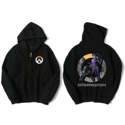 Widowmaker Merch Zip Up Hooded Sweatshirt For Overwatch Fans