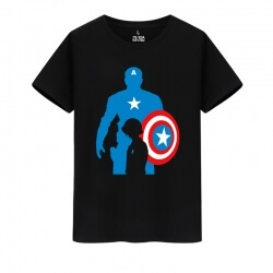 Marvel Hero Captain America Tees The Avengers T-Shirts