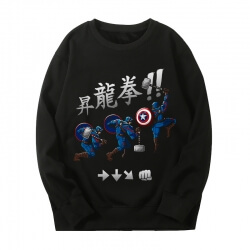 The Avengers Sweatshirts Marvel Captain America Hoodie