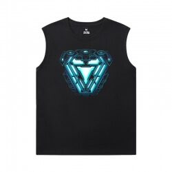 The Avengers Shirts Marvel Iron Man Sleeveless Tshirt Mens