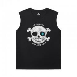 Quality Annoying Dog Skull Tshirt Undertale Sleeveless Tshirt Men