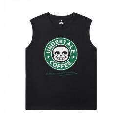 Undertale Sleeveless Shirts Mens Quality Annoying Dog Skull T-Shirt