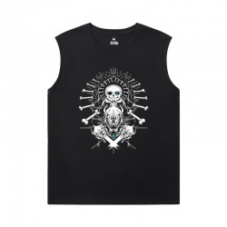 Undertale Mens Designer Sleeveless T Shirts Personalised Annoying Dog Skull Shirt