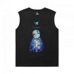 Undertale Xxl Sleeveless T Shirts Cotton Annoying Dog Skull Tees