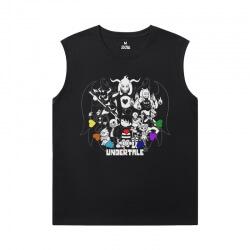 Undertale Men'S Sleeveless Graphic T Shirts Cool Annoying Dog Skull Tee Shirt