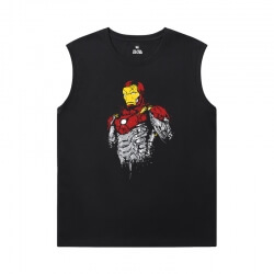Marvel Iron Man T-Shirt The Avengers Sleeveless Crew Neck T Shirt