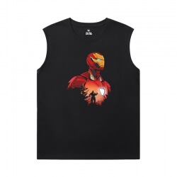 Iron Man Mens Sleeveless T Shirts Marvel The Avengers T-Shirts
