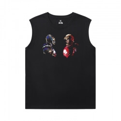 Marvel Iron Man Black Sleeveless Tshirt The Avengers T-Shirt