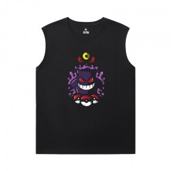 Pokemon Tee Cotton Gengar Sleeveless Crew Neck T Shirt