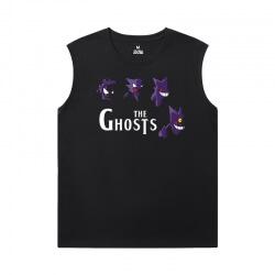 Pokemon Black Sleeveless T Shirt Mens Cool Gengar Shirt