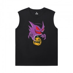 Cool Gengar Tshirts Pokemon Sleeveless Tshirt For Men