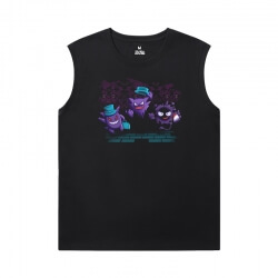 Pokemon Tees Quality Gengar Printed Sleeveless T Shirts For Mens