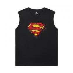 Justice League Superman Black Sleeveless Tshirt Marvel Tee Shirt