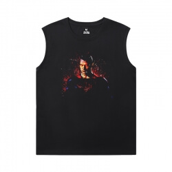 Justice League Superman T-Shirt Superhero Sleeveless T Shirt For Gym