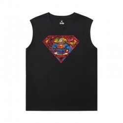 Superman Men'S Sleeveless T Shirts Cotton Justice League Superhero Tees