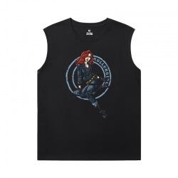 Black Widow T-Shirts Marvel The Avengers Sleeveless T Shirt Black